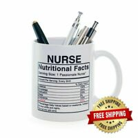 Nurse Gifts Coffee Mug Nutritional Label Funny Nurse Present Nurse Gifts Mug Cup