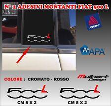 ADESIVI MONTANTI  PER FIAT  NUOVA 500 L , TUNING STICKERS PROFESSIONALI