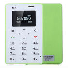 Boys AIEK M5 Simple Bar Ultra Thin Pocket Cell Phone Card Alarm Clock Green·