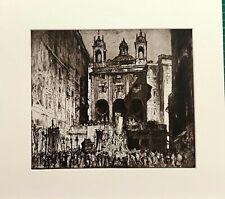 """ ST. PETER'S OF THE EXCHANGE, GENOA. FRANK BRANGWYN."" 1924"