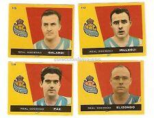 LOTE 4 CROMOS ANTIGUOS FUTBOL LIGA 1959-1960 REAL SOCIEDAD Football Cards Raros
