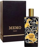MEMO IRISH LEATHER Eau de Parfum Spray EDP 2.5 oz, 75ml New Sealed In Box