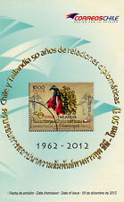 Chile Thailand 2012 Brochure 50 years Diplomatic Relations - no stamp