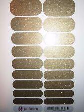Jamberry Gold Sparkle Full Sheet Nail Wraps * Free Same Day Ship