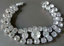 Rhinestone Silver Bracelet Vintage Costume Jewellery (1950s)