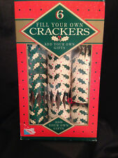 Christmas Crackers Holiday New Years Party Holly Berries Gifts 6pc Britain 1993