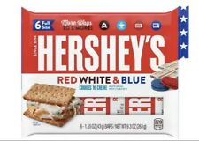 Hersheys Cookies And Cream Red,White,Blue 6pk Full Size Bars Special In Hand