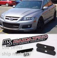 MS3 MS6 Mazda Flying M Black Out Front Emblem Badge for ALL Mazdaspeed 3 /& 6