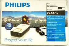 "PHILIPS ""PICOPIX"" POCKET PROJECTOR PPX2340/F7 WITH USB QUICK-LINK LED TECHNOLOGY"