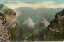 A RISING STORM IN THE JAMIESON VALLEY BLUE MOUNTAINS NSW  POSTCARD