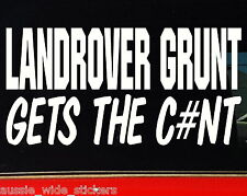 LAND ROVER GRUNT 4x4 discovery series Funny Stickers 200mm