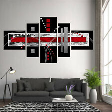 Abstract Wall Art Red Black Grey Modern Canvas Print Painting Home Decor 5 PCS