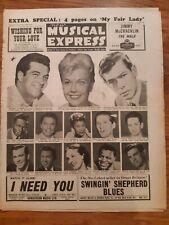 NME music newspaper may 2nd 1958 Doris Day Johnny Ray