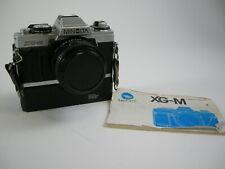 Minolta XG-M 35mm SLR Film Camera w/50mm f2 Lens and winder