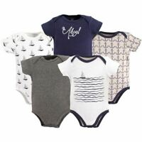 Hudson Baby Bodysuits, 5-Pack, Sailboat