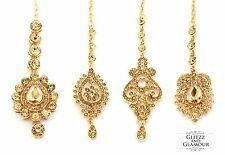 GOLD LCT DIAMANTE INDIAN HEAD HAIR TIKKA HEADPIECE JHUMAR GRECIAN STYLE BOHEMIAN