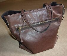 EEUC~J.CREW~LARGE SHOULDER BAG/TOTE/PURSE~SADDLE LEATHER~ZIP-AROUND~RARE 'GO-TO'