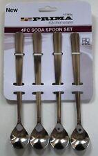Stainless Steel Latte Long Tea Coffee Spoon Soda Ice Cream Dessert Sundae Spoons