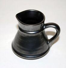 Prinknash Pottery England lustre super graphite finish small jug 7cm