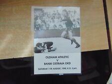 Friendly 1990/1 Oldham Athletic v Banik Ostrava Czechoslovakia