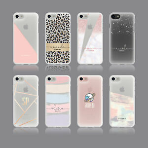 GLITTER PLANET SPACE PERSONALISED INITIALS SOFT PHONE CASE FOR IPHONE SAMSUNG