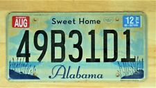 2012 SWEET HOME ALABAMA LICENSE PLATE 49B31D1 AUTO CAR VEHICLE TAG LOT 1588