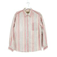 Y-Chrome Mens Multicolor Striped Long Sleeve Button Front Shirt Size Medium