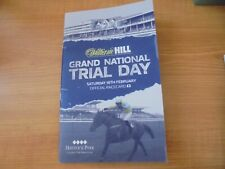 HAYDOCK PARK RACE CARD 16TH FEBRUARY 2019 - GRAND NATIONAL TRIAL DAY