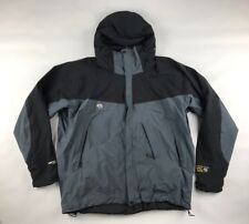 Mountain Hardware jacket 2XL grey black Gore-tex shell Snow ski skirt vents hood