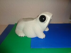 Vintage Mid Century Ceramic Frog Toad Planter Whittier Pottery