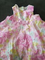 Adorable Maggie & Zoe Baby Infant Girls Sz 6mo Pink & White Floral Lined Dress