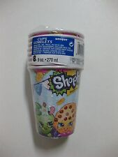 SHOPKINS Cups 8 CT. 9oz (270ml) FACTORY SEALED