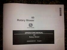 "New John Deere 60"" Rotary Mower Operator'S Manual 400 420 430 445 455"