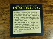 Fuori catalogo L'UOMO o guerra nani del caos razzi CARD (1006)