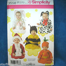 Simplicity 3558 CUTE Baby Bunting Hats 5 Costumes XXS-L
