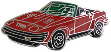 Triumph TR8 car cut out lapel pin - Red