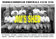 MIDDLESBROUGH F.C. TEAM PRINT 1948 ( HARDWICK / BLENKINSOPP / FENTON )
