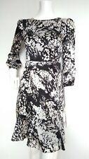 KAREN MILLEN silk dress size 8 --USED ONCE-- 100%silk 3/4sleeve