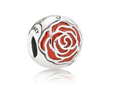 NEW Authentic Pandora Bead Silver Disney Belle Enchanted Rose Red 791575EN09