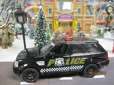 """TRAIN VILLAGE HOUSE """" POLICE LAND ROVER DEFENDER SUV """" + DEPT 56/LEMAX INFO!WOW"""