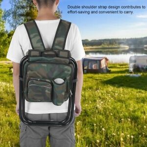 Camping Fishing Chair Stool Folding Backpack Stool With Cooler Insulated Picnic