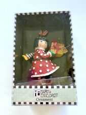 Mary Engelbreit Christmas Collection Ornaments ~Girl w Gift New in Box