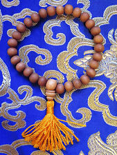 Tibetan Buddhist 28 BEAD RARE FRAGRANT GENUINE SANDALWOOD 8mm WRIST MALA