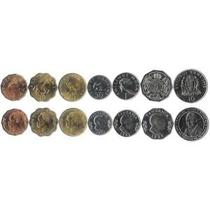 7 COINS FROM TANZANIA. 1966-1993. UNC 1 SENTI - 10 SHILINGS. OLD CURRENCY