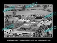 OLD LARGE HISTORIC PHOTO OF MELKSHAM WILTSHIRE ENGLAND, THE AVON RUBBER CO c1930