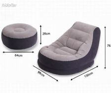 Genuine Intex Inflatable Ultra Lounge Chair With Cup Holder And Ottoman Set