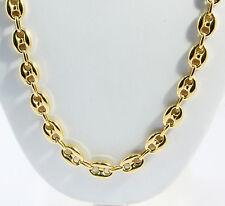 "28.70 gm 14K Yellow Gold Puff Mariner Men's / Women's Chain Necklace 20"" 9.5 mm"