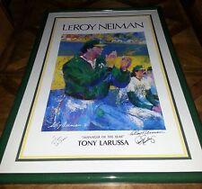 Manager of Yr Print Tony LaRussa Signed LaRussa LeRoy Neiman Dennis Eckersley