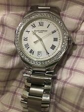 BAUME & MERCIER RIVIERA MEN'S STAINLESS STEEL QUARTZ WATCH DIAMOND BEZEl