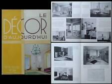 DECOR D'AUJOURD'HUI n°24 1937 EXPOSITION 1937, UAM, RENE GABRIEL, HERBST, ROYERE
